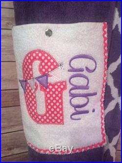 Towel Pants Customized with Swimmer's name