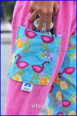 Towel Pants Flamingo Pattern for Beach, Swimming, Bathing, Lounging, Vacation, Resortwear, Boys, Girls, Adults, Swimmers