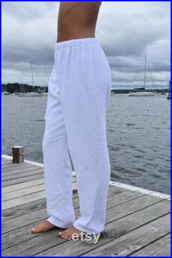 Towel Pants Luxury White for Beach, Swimming, Bathing, Lounging, Vacation, Resortwear, Boys, Girls, Adults, Swimmers