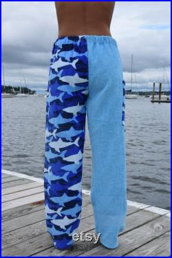 Towel Pants Shark Pattern for Beach, Swimming, Bathing, Lounging, Vacation, Resortwear, Boys, Girls, Adults, Swimmers