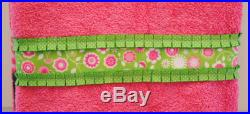 Towel Pants, XXS-M, Pink and Green Floral Ruffles and Ribbons, Special Order Item, Comfortable, Absorbent, FUN