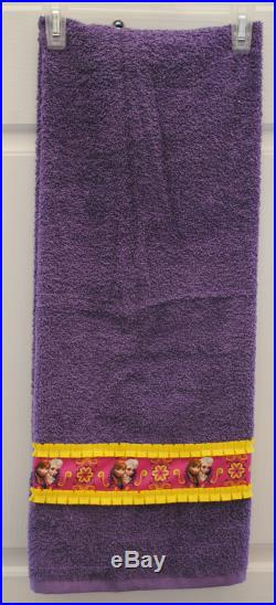 Towel Pants, XXS-M, Purple Frozen Sisters Ruffles and Ribbons, Special Order Item, Comfortable, Absorbent, FUN