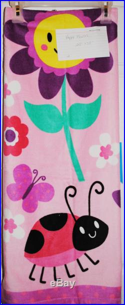 Towel Pants, XXS-XL, Pink Happy Day Fun Print, Special Order Item, Comfortable, Absorbent, FUN