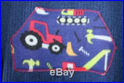 Trucks and Tools Blue Hooded Poncho Towel for Swim or Bath