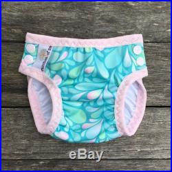 Turquoise Drops Swim Nappy, Reusable, Swimmers, mcn, cloth nappy, pul, baby shower, baby gift, swimwear, ocean colours, wetbag