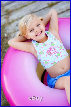 Turtle Tide Swimsuit, Girls Sizing, Monogrammed, Matching Hooded Towel Available