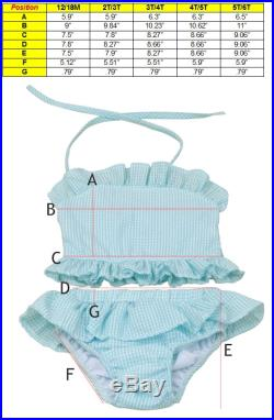 Two Piece Monogrammed Seersucker Swimsuits- Several colors- Two- Piece Only