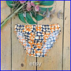Vintage 1970's Patterned Speedo Swimsuit Trunk French New Old Stock 10Y