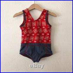 Vintage 70s Baby Girls Bathing Suit, Vintage Baby Girls Swimsuit, Vintage Baby Girls Bathing Suit Size 12 18 Months