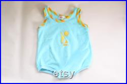 Vintage Baby Terry Cloth Bathing Suit Covering 12 Months
