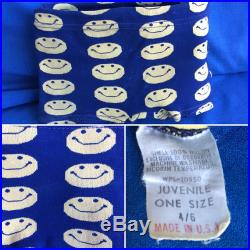 Vintage Smiley Face Boys Bathing Swim Suit 60 s 70 s Happy Smile Retro Childs Clothing So Groovy
