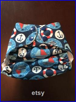 Whales and Sails reusable swim diaper boys summer swimmer one size