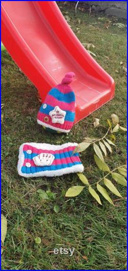 a double set for children. Berets and scarves