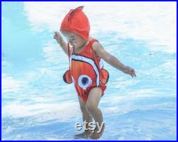 cute baby swimsuit nemo swimsuit funny baby swimsuit baby swimwear toddler swimwear funny baby costume dory costume fish baby swimsuit
